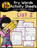 Fry Word Activity Sheets {Third Hundred Words - List 2} {Click File, Print}
