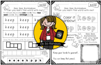 Fry Word Activity Sheets {Third Hundred Words - List 3} {Click File, Print}