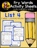 Fry Word Activity Sheets {Third Hundred Words - List 4} {C