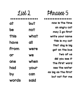 1-200 Fry Word Assessment Book