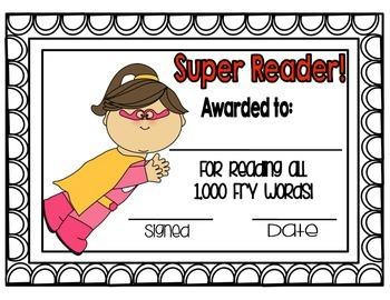 Fry Word Award