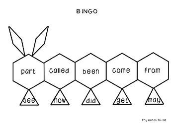 Fry Word Bingo Bundle