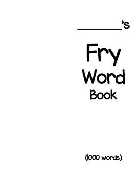 Fry Word Book - 1000 words