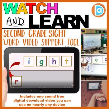 RTI | Second Grade Sight Word Fluency Tool | Right