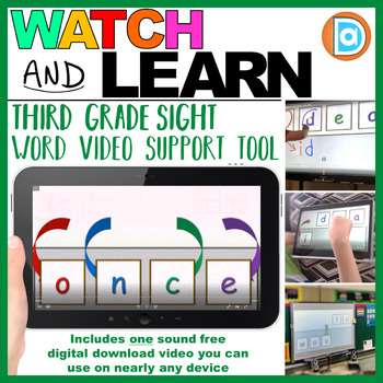 RTI | Third Grade Sight Word Fluency Tool | Once