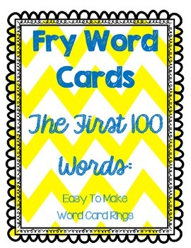 Fry Word Cards 1st 100