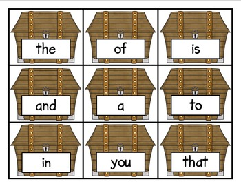 Fry Word Card Game Pirate Theme