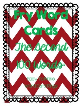 Fry Word Cards 2nd 100