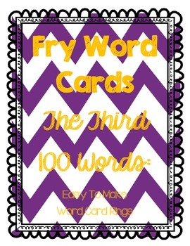 Fry Word Cards 3rd 100