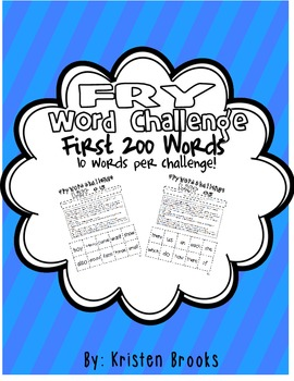 Fry Word Challenge (First 200 Words)