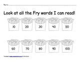 Fry Word Check Sheet