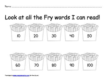 Fry Word Check Sheet