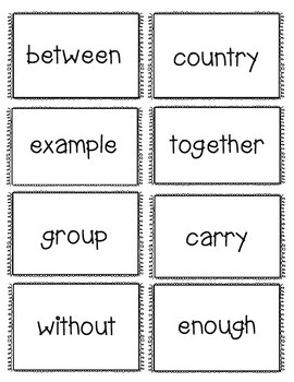Fry Word Concentration Game