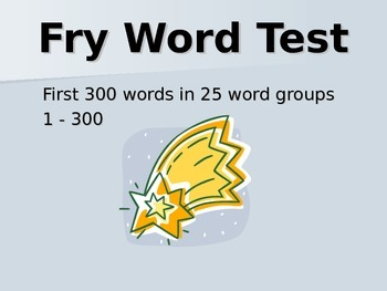 Fry Word Continuous PowerPoint 1-300