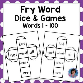 Sight Word Dice, Word Cards and Games for the First Hundred Words