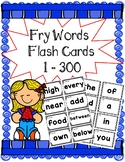 Fry Word Flash Cards 1-300