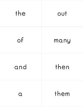 Fry Word Flash Cards