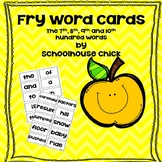 Fry Word Flash Cards- The rest of the words to 1000.