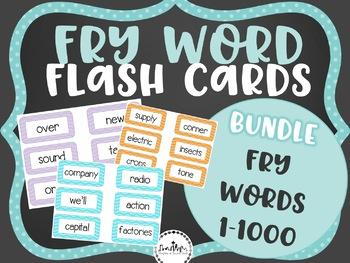 Fry Word Flashcard Pack
