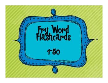Fry Word Flashcards (1-50) FREEBIE