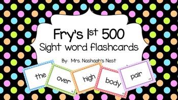 Fry Word Flashcards 1-500!