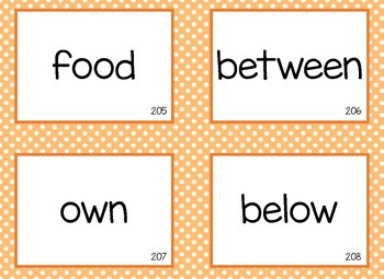 Fry Word Flashcards - 3rd 100