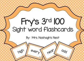Fry Word Flashcards - 3rd 100