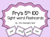 Fry Word Flashcards - 5th 100