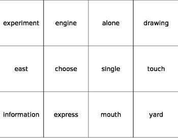 Fry Word Flashcards Eighth 100
