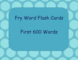 Fry Word Flashcards- First 600