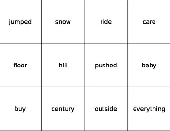 Fry Word Flashcards Seventh 100 Words