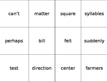 Fry Word Flashcards Sixth 100 Words