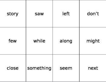 Fry Word Flashcards Third 100 Words