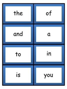 Fry Word Flashcards - Whole set 1,000 words