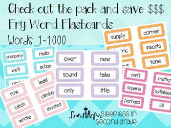 Fry Word Flashcards: Words 701-800