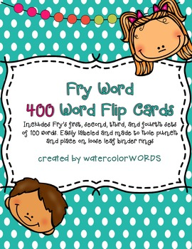 Fry Word Flip Books 400 WORDS!