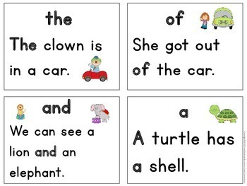 Sight Words: Kindergarten Reading Fluency Game using the 1st 50 Fry Words {ESL}