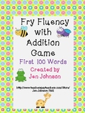Fry Word Fluency with Addition Game First 100