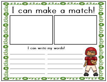Fry Word Football Match Game