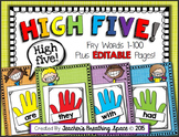 Fry Words 1-100 --- Fry Word High Five with EDITABLE Pages