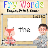 Fry Word Hunt PowerPoint Game (List 1 & 2)