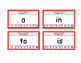 Fry Word List 1-100 Punch Cards
