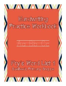 Fry Word List 1 Handwriting Practice Book