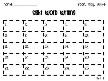 Fry Word List 1 QR Code Task Cards