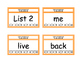 Fry Word List 101-200 Punch Cards