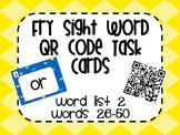 Fry Word List 2 QR Code Task Cards