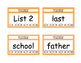 Fry Word List 201-300 Punch Cards