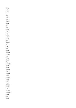 Fry Word List