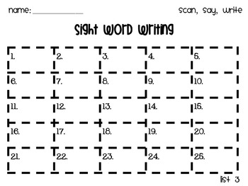Fry Word List 3 QR Code Task Cards
