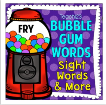 Fry Sight Words and Brag Tags